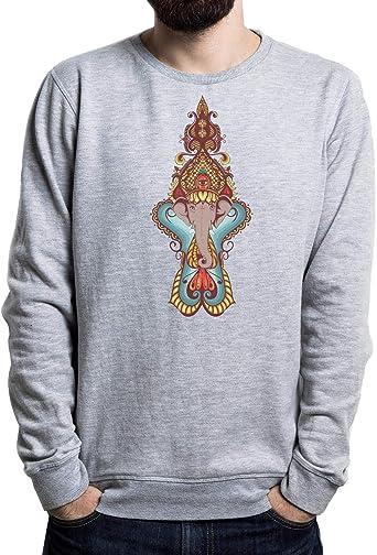 Lilij Ganehsa Hindu Style Hombre Suéter Negro: Amazon.es: Ropa y ...
