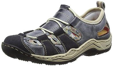 8aa9d81b83d8 Rieker Damen L0561 Sneakers, Blau (Navy Atlantic Kornblume beige   14