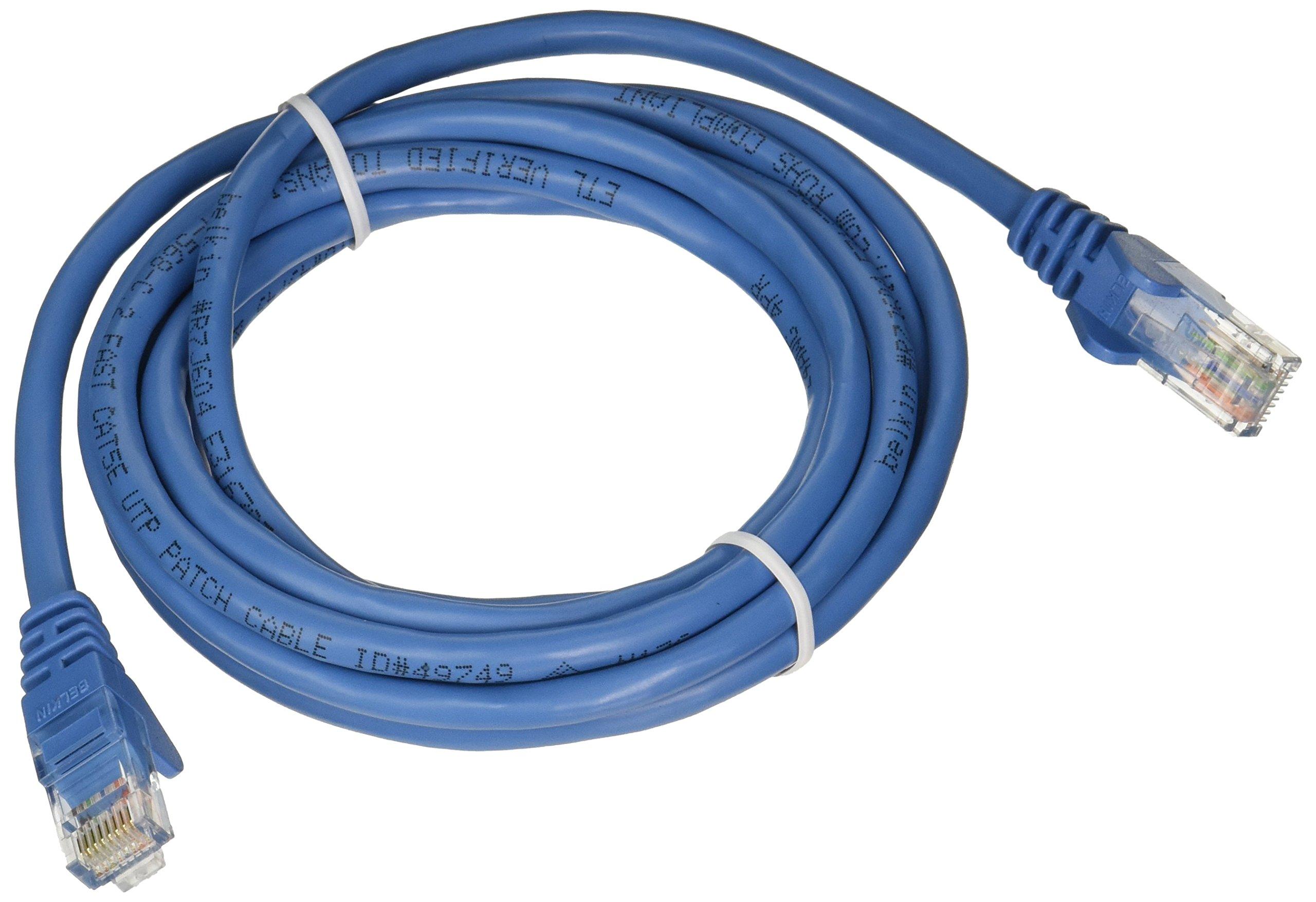 Belkin CAT5E Snagless Patch Cable RJ45M/RJ45M; 8 Blue by Belkin