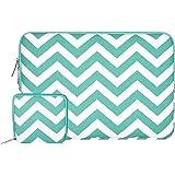 Mosiso Chevron Style Tissu de Toile Housse pour Apple 12,9 iPad Pro et 13-13,3 Pouces Ordinateur Portable / Netbook / MacBook Pro / MacBook Air, Chaud Bleu