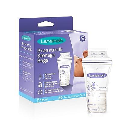 Lansinoh Breast Milk Storage Bags, 50-Count