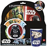 Star Wars–Breakfast Set Melamina sin orla 3Pieces (Stor) (82490)