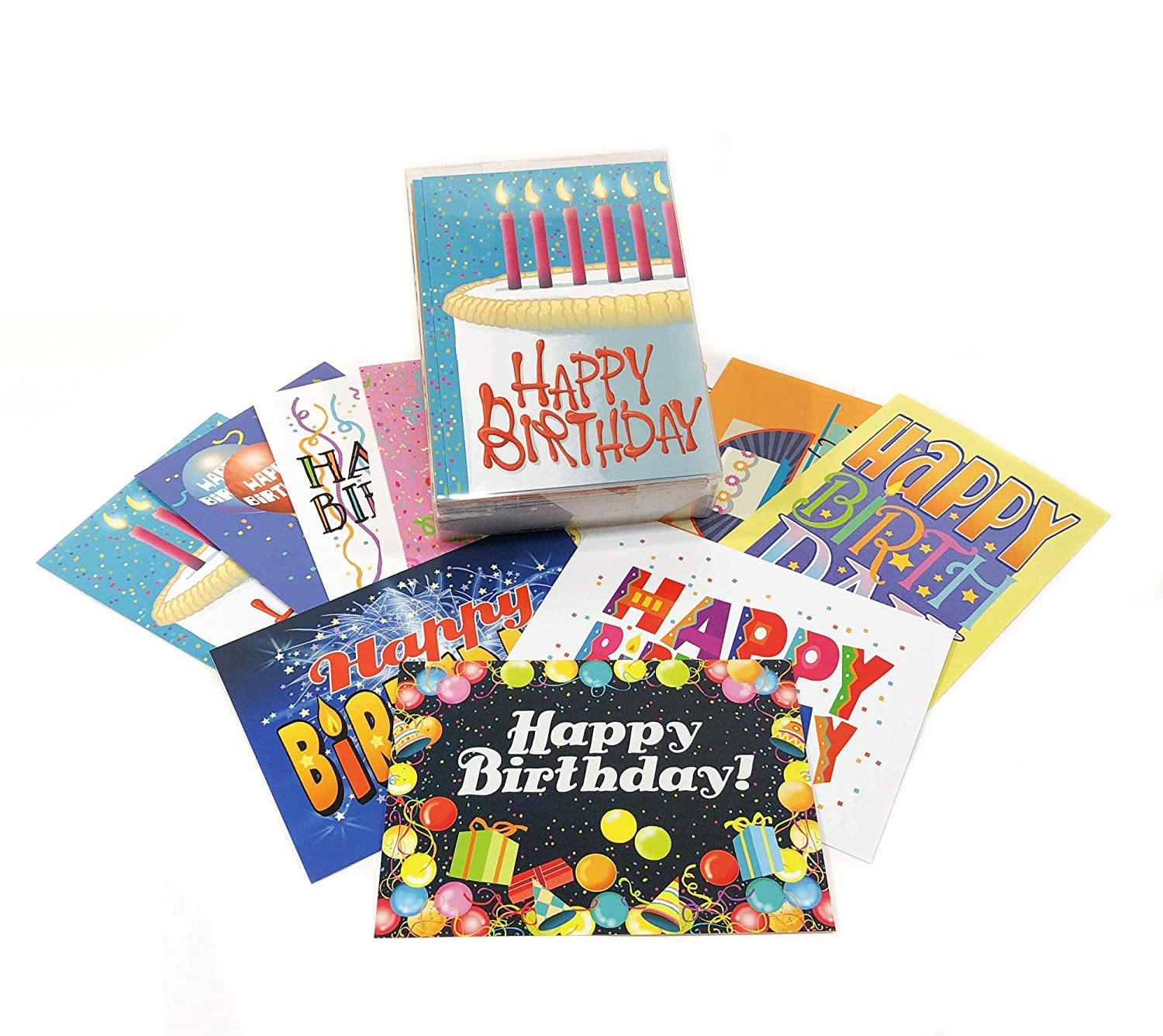 Amazon 36 Pack Of Birthday Card Assortment