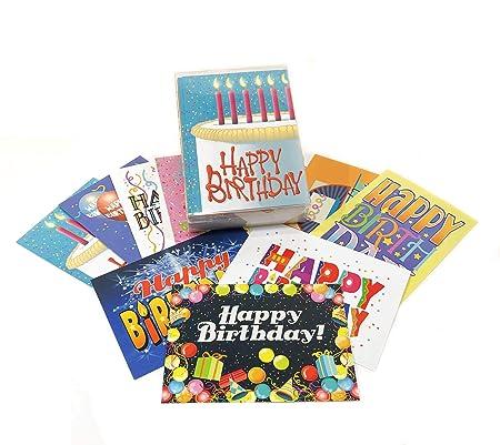 Tarjetas de cumpleaños surtidas - Juego de 36 tarjetas y ...