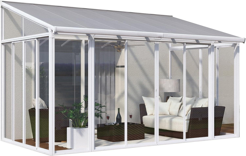 Pièces Latérales Pour Leco toiture Veranda blanc 4 pièces