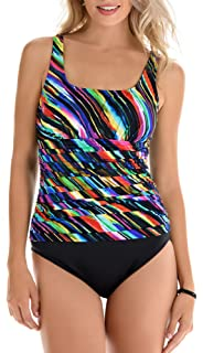 133313607d Trimshaper Palm Leaf Print One Piece 12 at Amazon Women's Clothing ...
