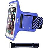 """EOTW Brazalete deportivo para iPhone 6/6s (4.7"""")Antideslizante con velcro y bolsillos para llevar móvil ,llaves, dinero ,Ajustable brazalete para banda del brazo hasta 12"""" a 24"""", Perfecto para correr, gimnasio, caminar o quehacer de casa."""