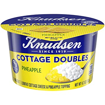 knudsen cottage cheese doubles pineapple topping 4 7 oz cup amazon rh amazon com