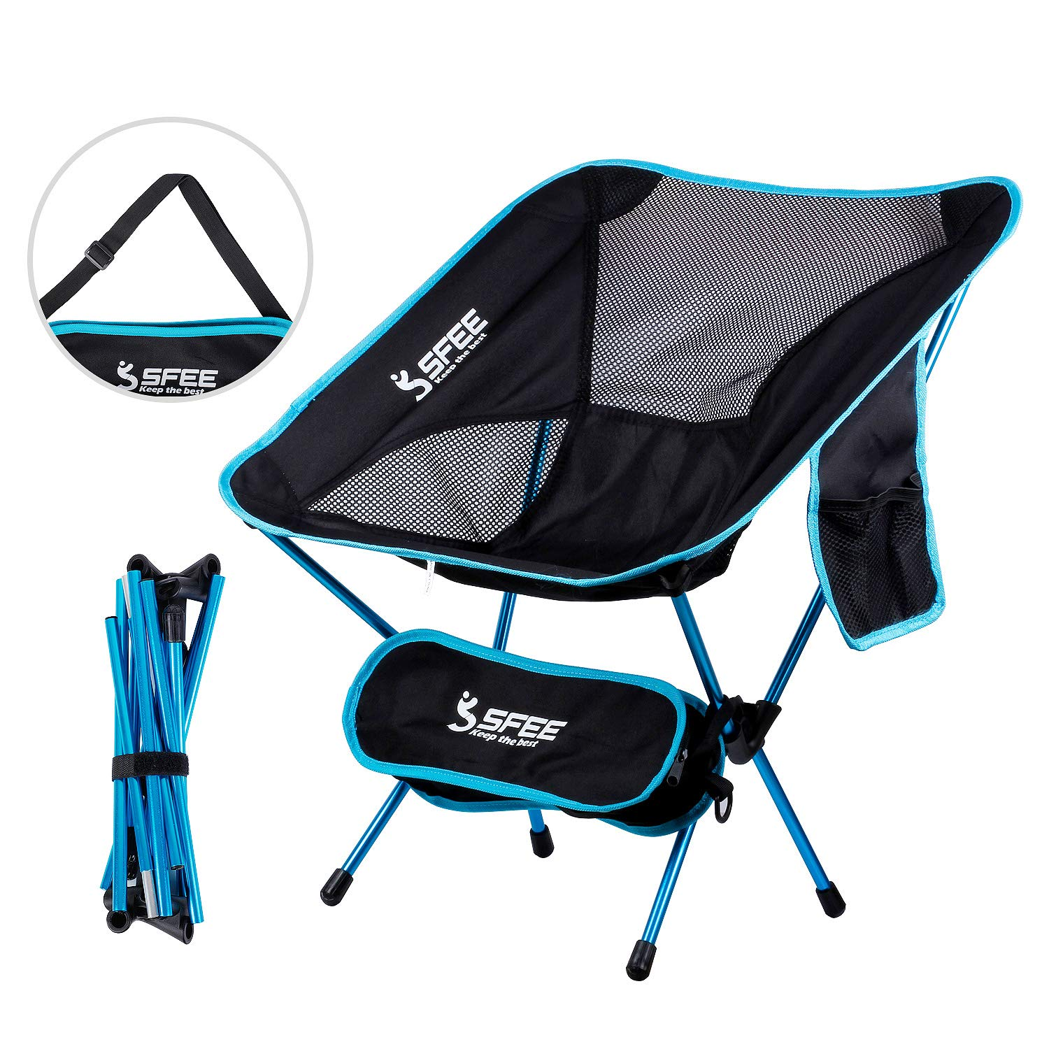 Sfee Ultralight Folding Camping Chairs, Heavy Duty Portable Compact Breathable Mesh Kids Camp Chair – Comfortable Perfect for Backpacking Hiking Picnic Outdoors BBQ Travel Finishing with Carry Bag