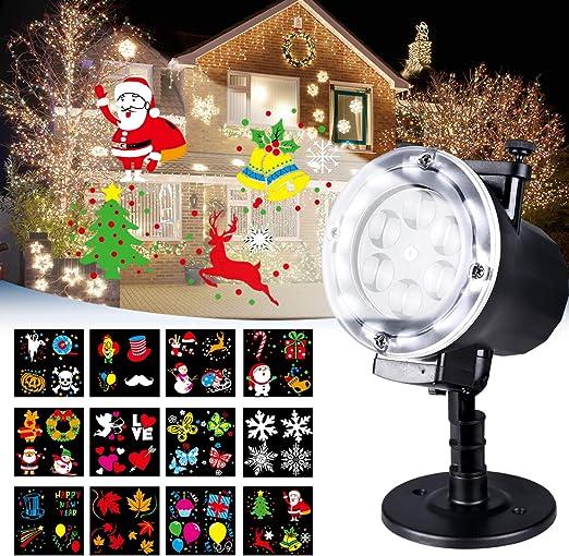 Luces de Proyector, LED Lámpara de Proyección de Navidad para ...