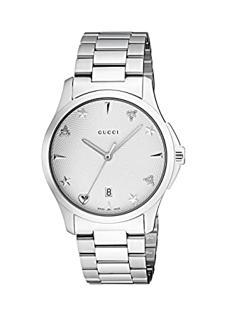 9f32efa6090 Amazon.com  Gucci Quartz Stainless Steel Casual Silver-Toned Watch ...
