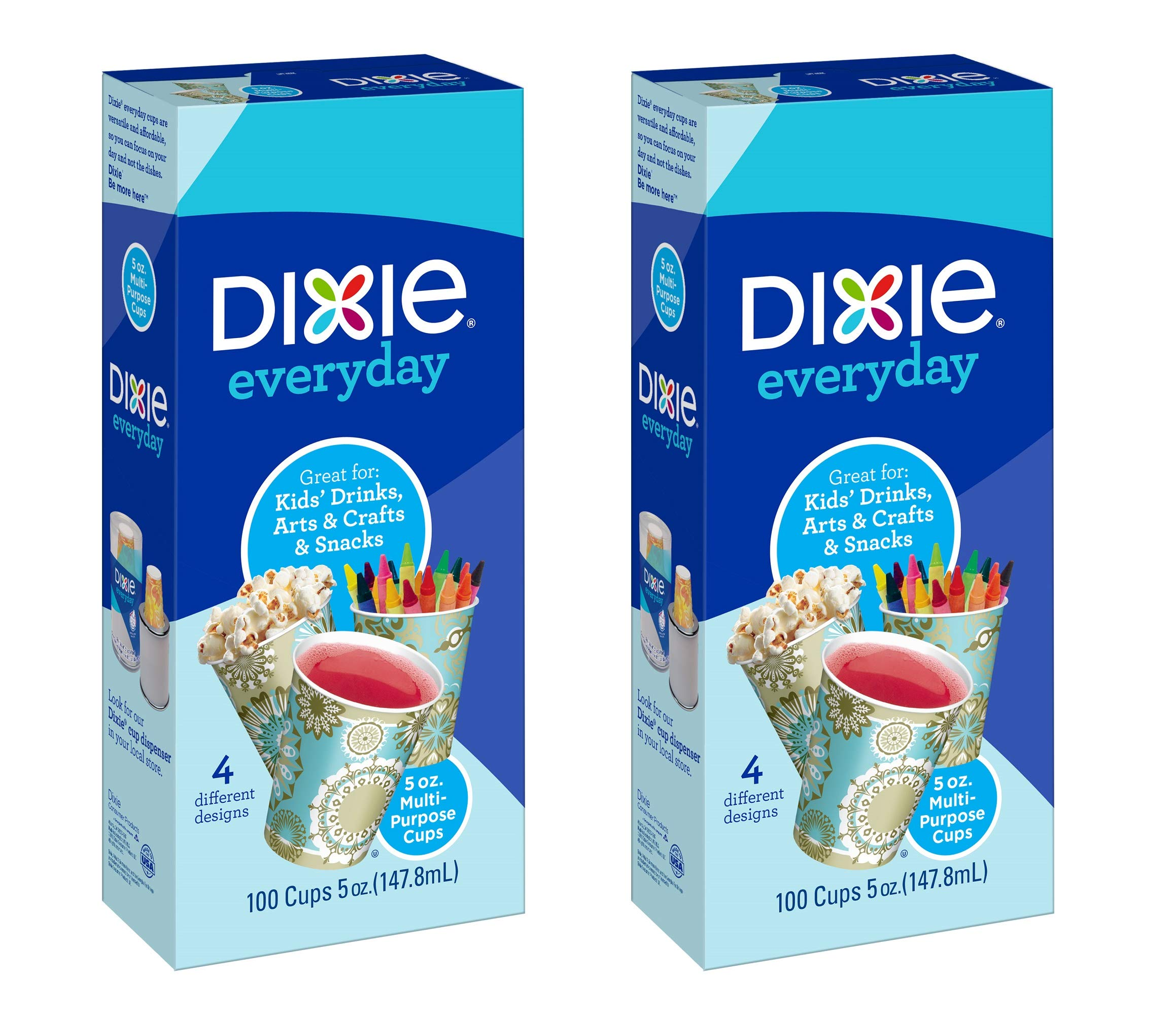 Dixie Bath Cups, Prints - 5 oz - 100 ct - 2 pk