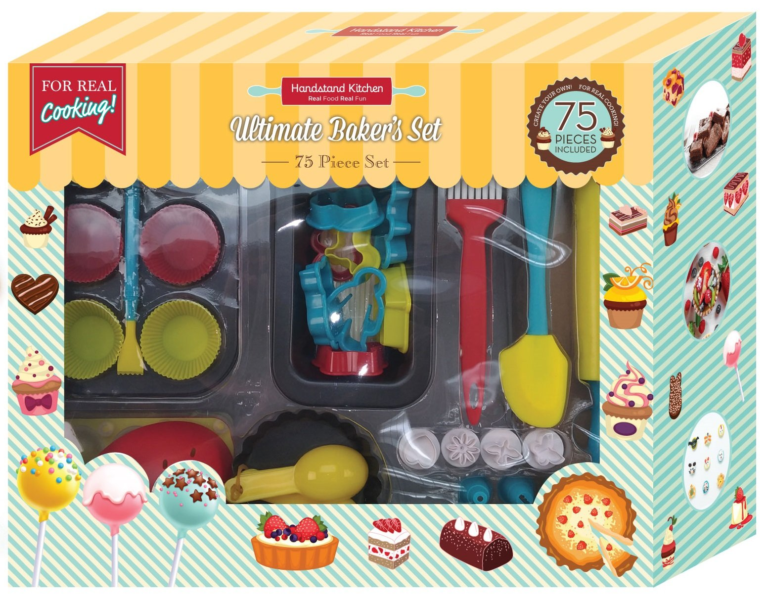 Handstand Kitchen 75-piece Ultimate Real Baking Set with Recipes for Kids by Handstand Kitchen
