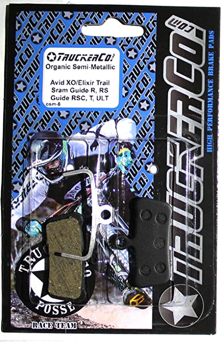 Bicycle Replacement Resin Organic for Avid Elixir R//CR//CR-MAG//X0 XX DB Yosoo Health Gear Disc Brake Pads Bicycle with Spring 4 Pairs Semi-Metallic Bicycle Disc Brake Pad