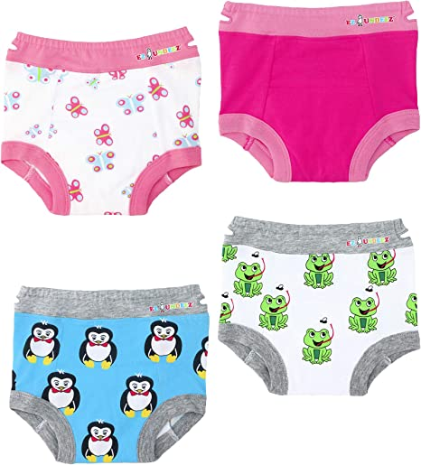 Ez Undeez Toddler Underwear Girls Padded Potty Training Pants Easy Pull Ups