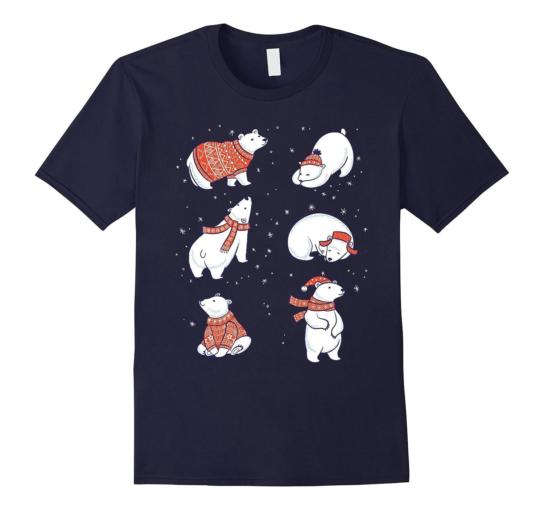 Cute Hand Drawn Polar Bear TShirt - Christmas Winter North-Art
