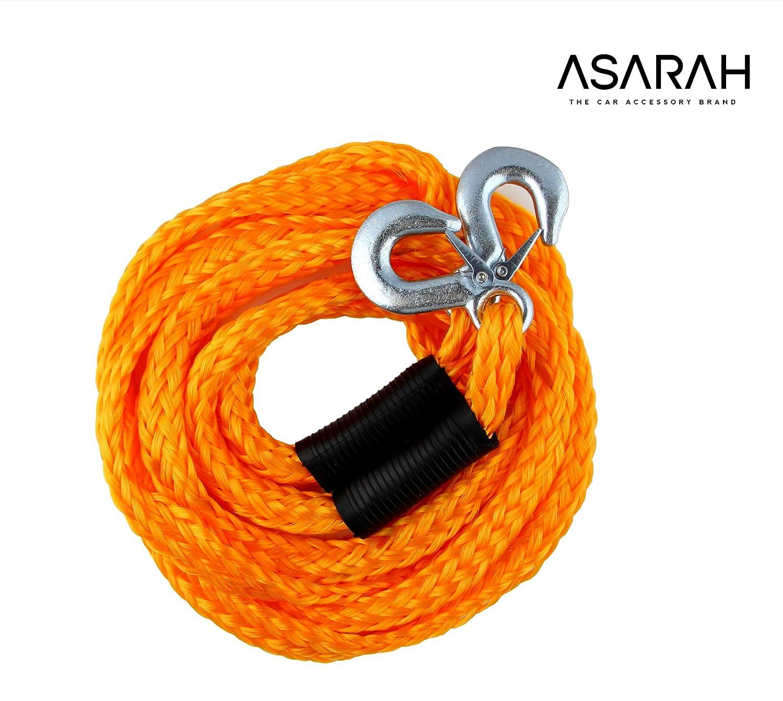 ASARAH elastische Auto Abschleppseil 4 m f/ür alle g/ängigen KFZ bis 3,0 t kompakt und Immer bereit f/ür Ihre Sicherheit