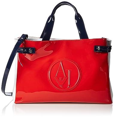 Amazon.com  Armani Jeans women s handbag shopping bag purse tricolor red   Shoes e8b1af6b294f9