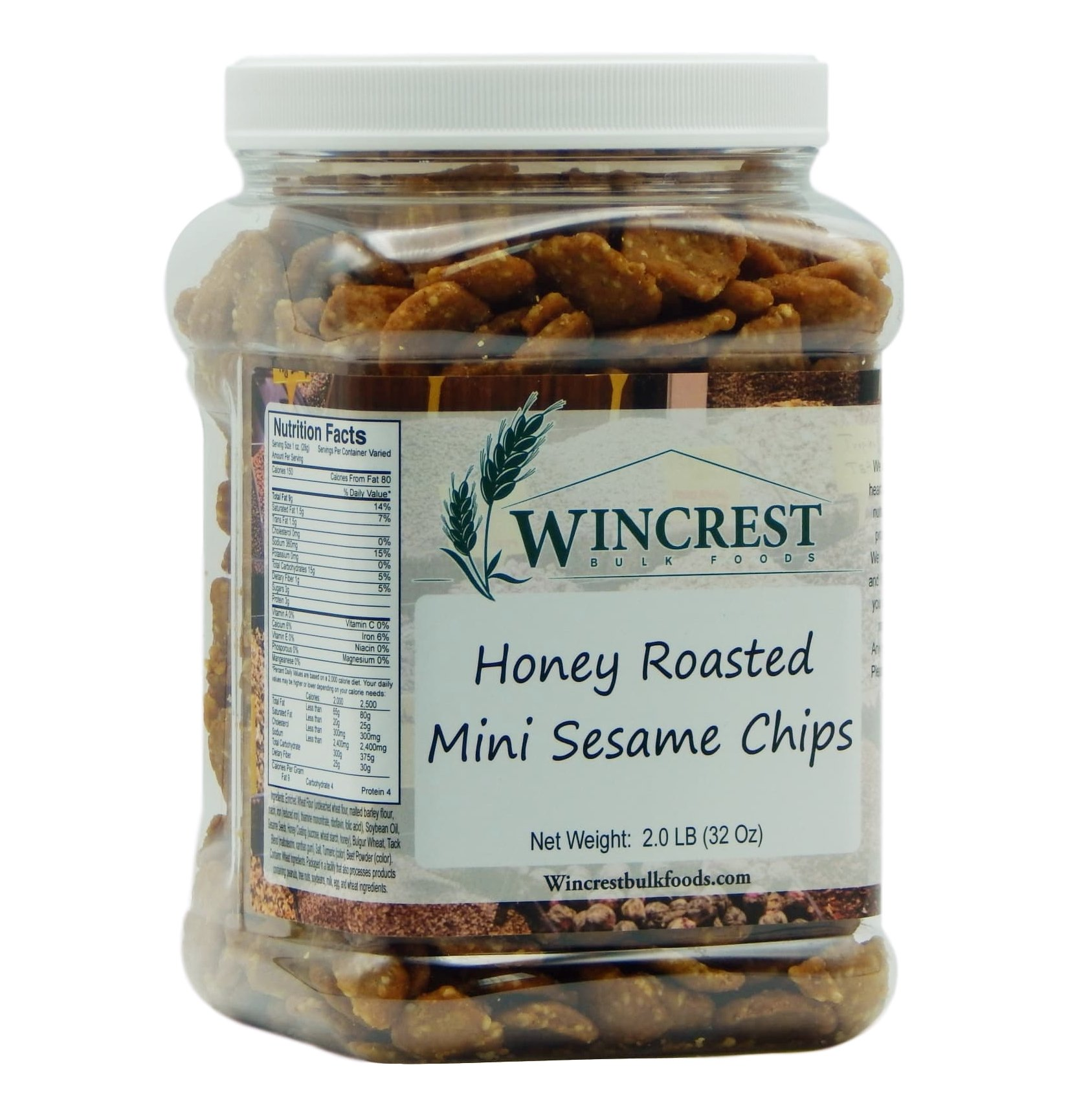 Honey Roasted Sesame Chips - 2 Lb Tub by WinCrest BulkFoods (Image #1)