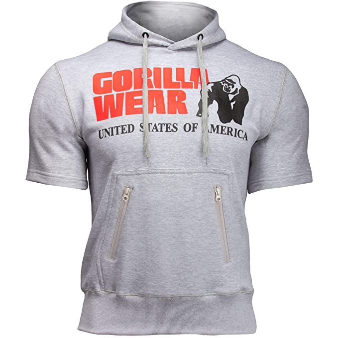 Black Bodybuilding Fitness Gorilla Wear Classic Zipped Hoodie