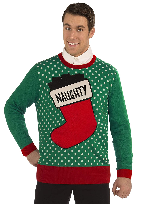 Multi-Color Forum Novelties 80122 Christmas Naughty Sweater-XXL