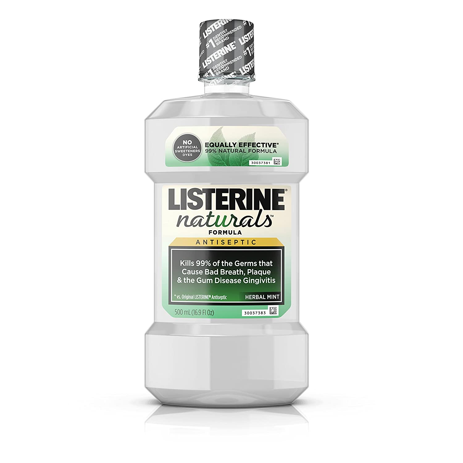 Listerine Naturals Antiseptic Herb/Mint 16.9 Ounce (Value Pack of 3)