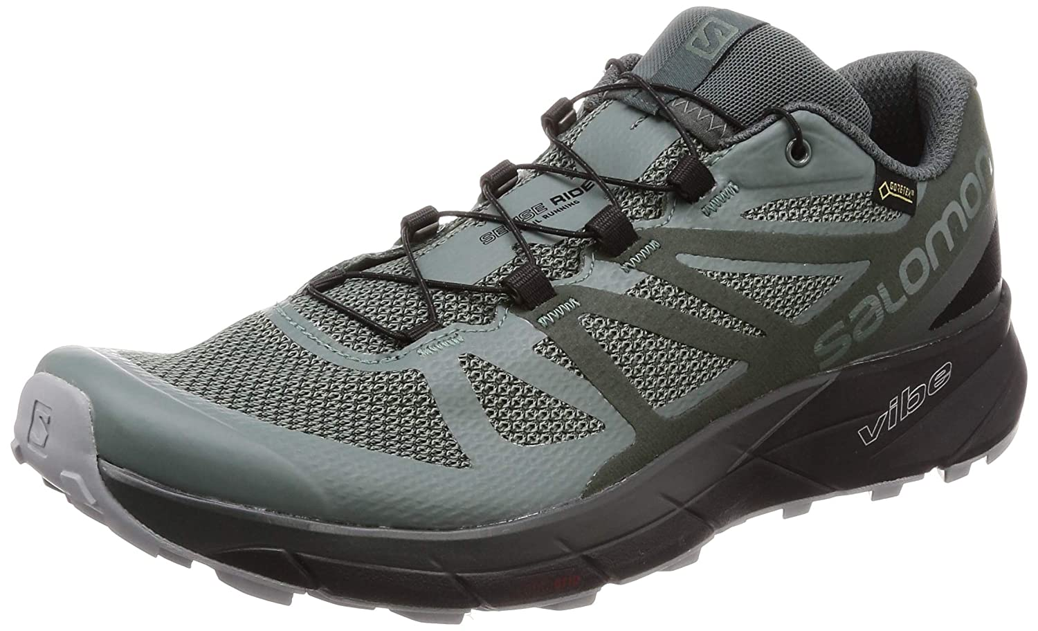 Salomon Men's Sense Ride GTX Invisible Fit Trail Running Shoes