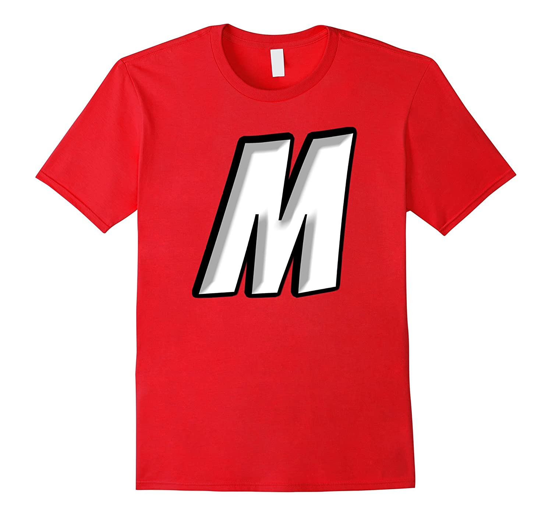 Letter m halloween costume shirt m letter candy t-shirt-T-Shirt