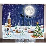 Christmas Lace Santa Claus Xmas Tree Pattern Window Drop Door Curtain Ornament