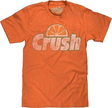 Amazon.com: Tee Luv Orange Crush T-Shirt - Vintage Crush Soda Logo ...