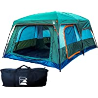 10 Person Camping Tent   Insulated Family Cabin Shelter with Waterproof Fabric, Mesh and Room Divider