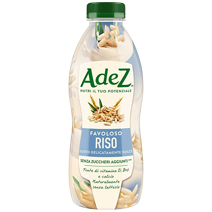 AdeS - Arroz ideal con vitamina B12 y calcio, Bebida Vegetal, 800 ml,