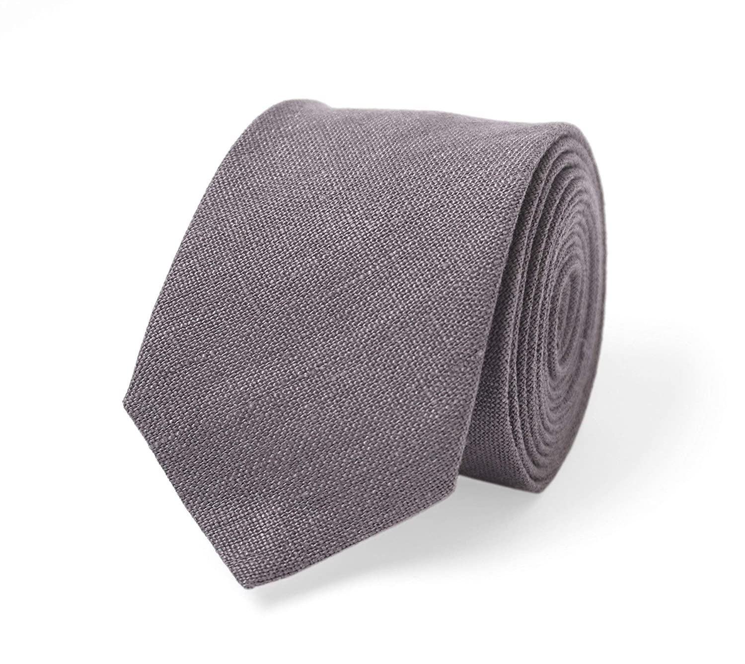Lilac gray linen wedding necktie for groomsmen and groom/dusty purple baby and kids bow tie/groomsmen gift/lilac grey bow ties for men and boys/boho wedding/toddler bow tie/pocket square