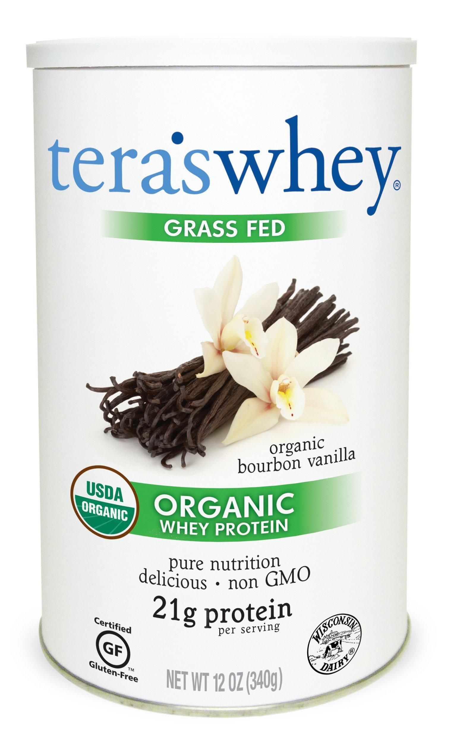 Tera's Whey Organic Protein, Bourbon Vanilla,12 Ounce by teraswhey