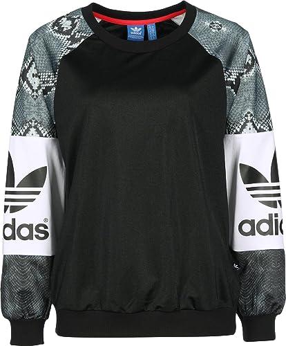 adidas Crew Damen Sweatshirt P Sweat, schwarz, Größe 44