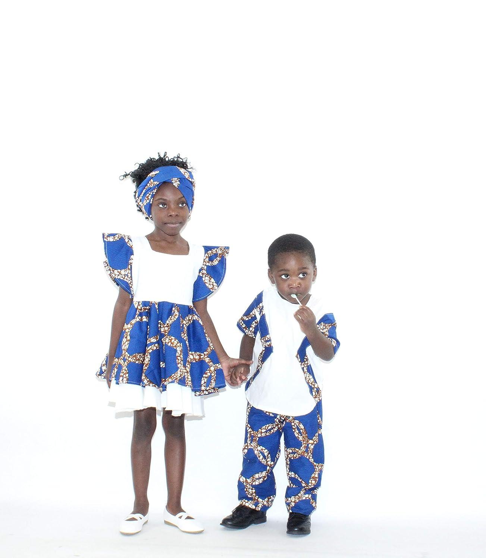 Mawusi Clothing African Print Ankara Boys Circle Pant Set 2//3T