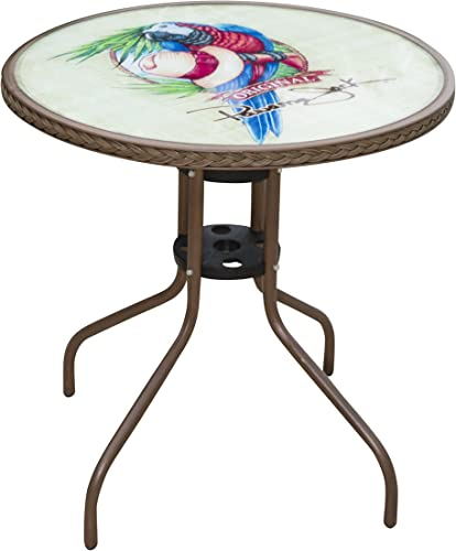 Panama Jack PJO-9001-BTP Caf Collection Parrot Bistro Table