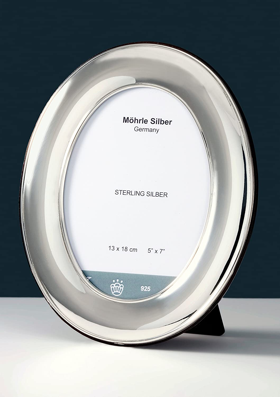 Bilderrahmen Silber oval aus Sterlingsilber 925 von Möhrle Silber ...