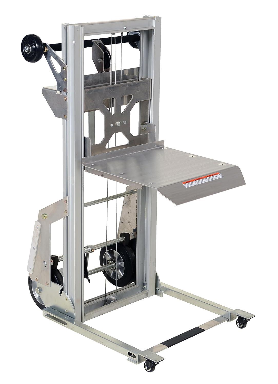Vestil PALL-200 Portable Aluminum Load Lifter Capacity Silver 200 lb