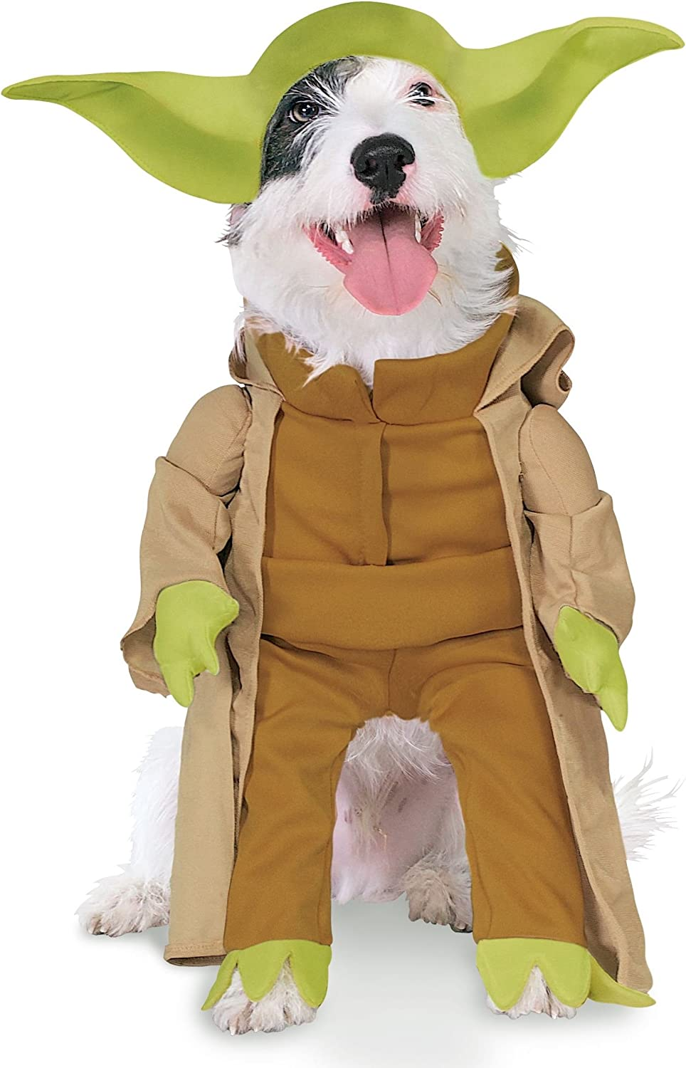 Yoda pet costume with plush arms