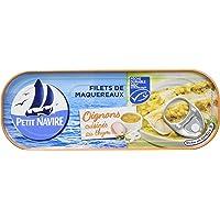 Petit Navire Filets de Maquereaux Oignons Cuisinés au Thym MSC 169 g