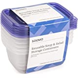 Amazon Brand - Solimo Plastic Food Storage Containers with Lids (30 Pack) - BPA-Free, Safe for Dishwasher, Microwave…