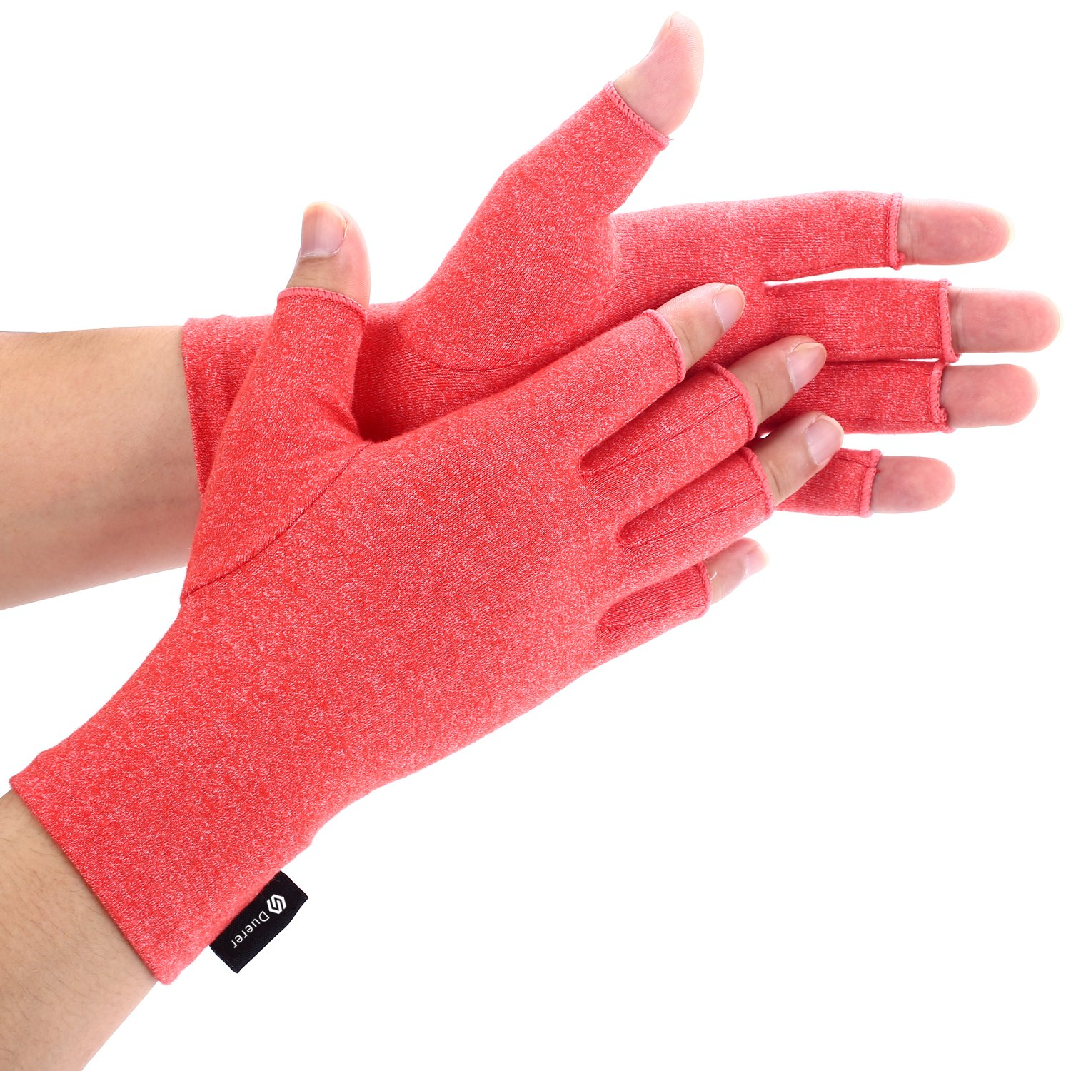 Duerer Arthritis Gloves Women Men for RSI Carpal Tunnel Rheumatiod Fingerless Hand Thumb Compression Gloves Small Medium Large XL for Pain Relief Tendonitis