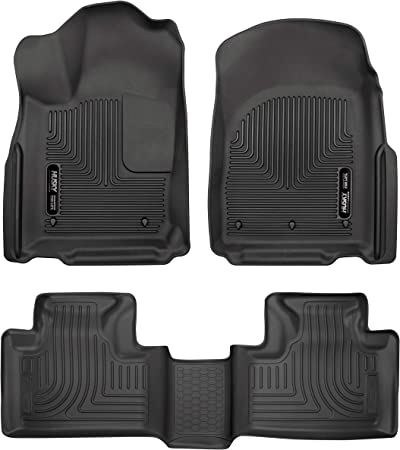 Husky Liners 98031 WeatherBeater Floor Liner; Black; 3 pc; Front and Rear;