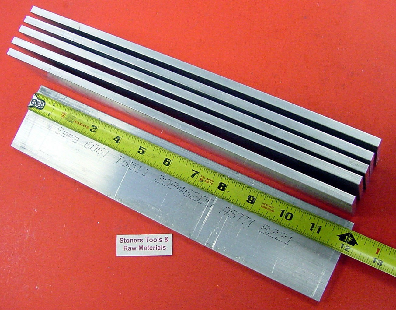 "4 Pieces 1//4/"" X 2-1//2/"" ALUMINUM FLAT BAR 24/"" long 6061 .250/"" Plate Mill Stock"