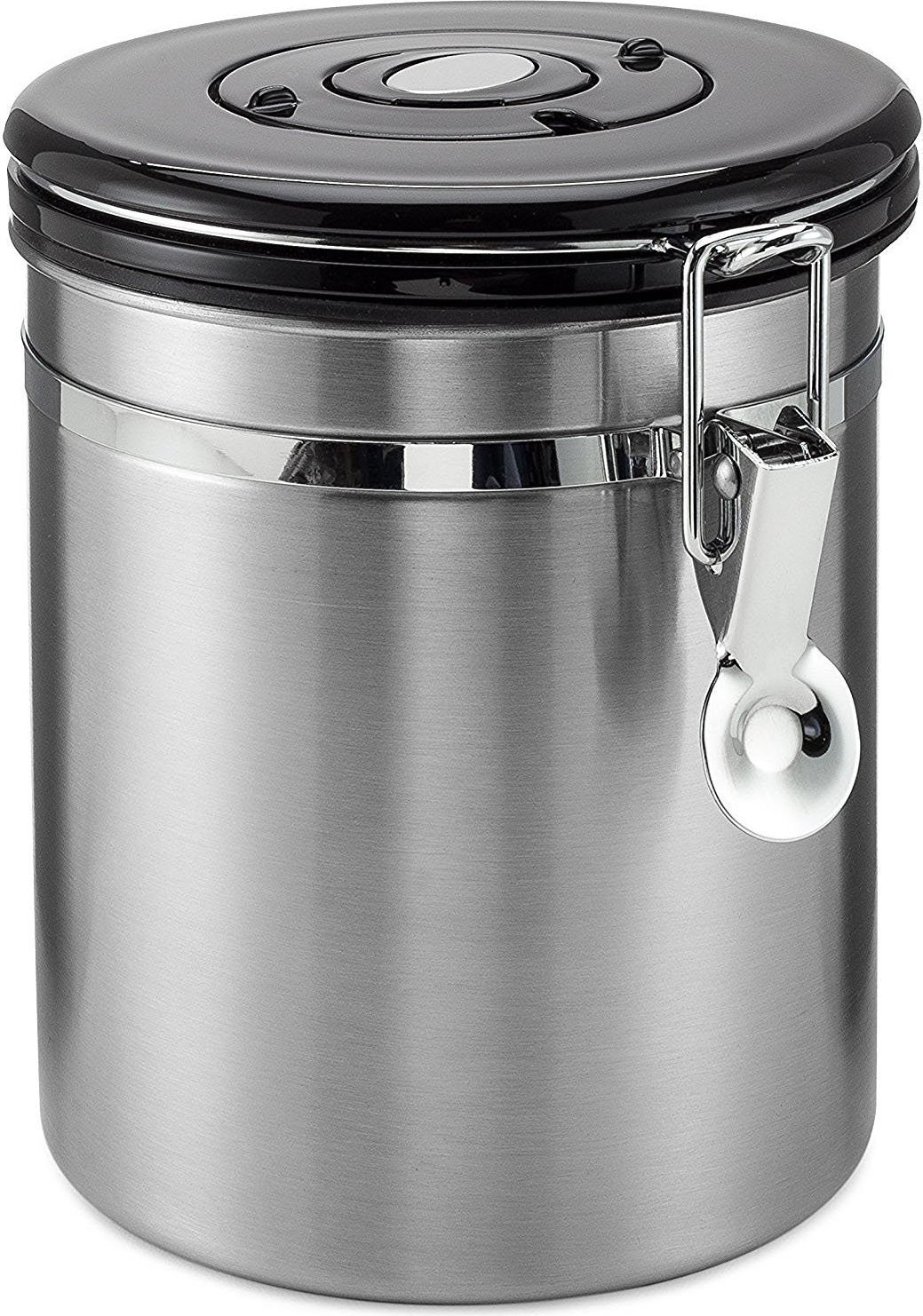 Coffee Container Airtight - Coffee Vault - by Mixpresso (16 Ounces, Stainless Steel) Mixpresso Coffee COMIN18JU036557