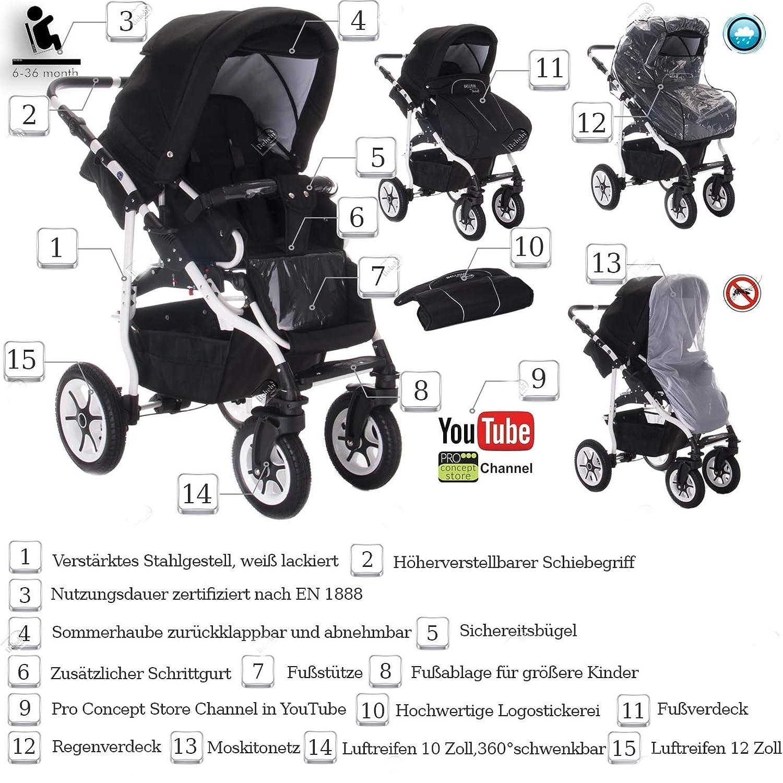 Carrito combinado de bebé 3 en 1 modelo Bellami de Bebebi, con ...