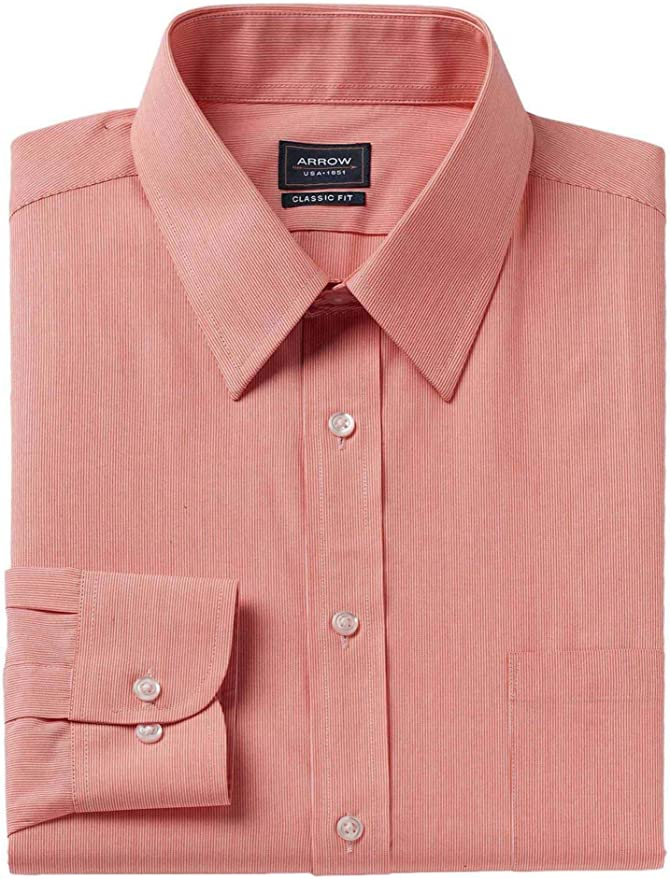 Men/'s Inserch Solid Orange Long Sleeves Party Dress Shirt Style 270