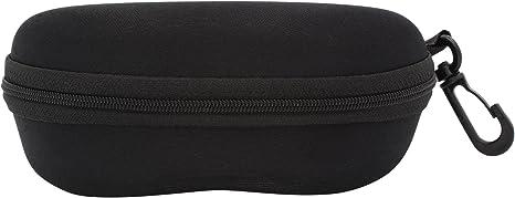 TBOC Funda Rígida Gafas de Sol – Estuche Negro Ligero con Cremallera para Cinturón Bolso Mochila y