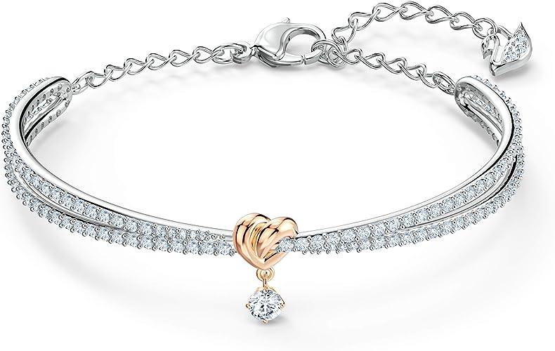 Amazon.com: Swarovski Lifelong Heart Bangle Bracelet, Women's ...